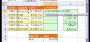 Calculate commissions with Excel's VLOOKUP function