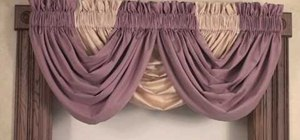 Create a beautiful window treatment by styling a draping waterfall valance
