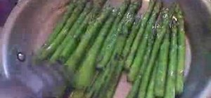 Cook pan-seared asparagus with lemon and balsamic