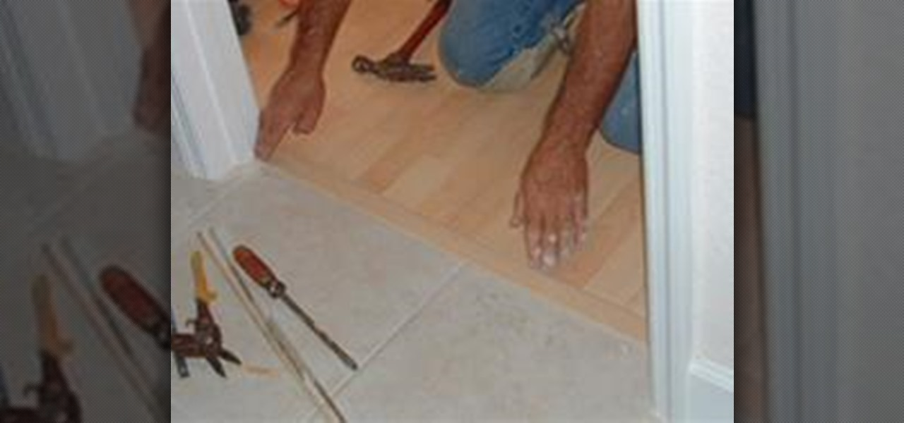 How To Install A TMold Transition Between Laminate Ceramic Tile - Floor dividers between rooms