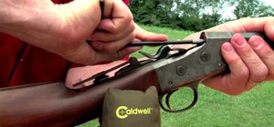 Repair a damaged rimfire barrel with a Menck chamber ironing tool