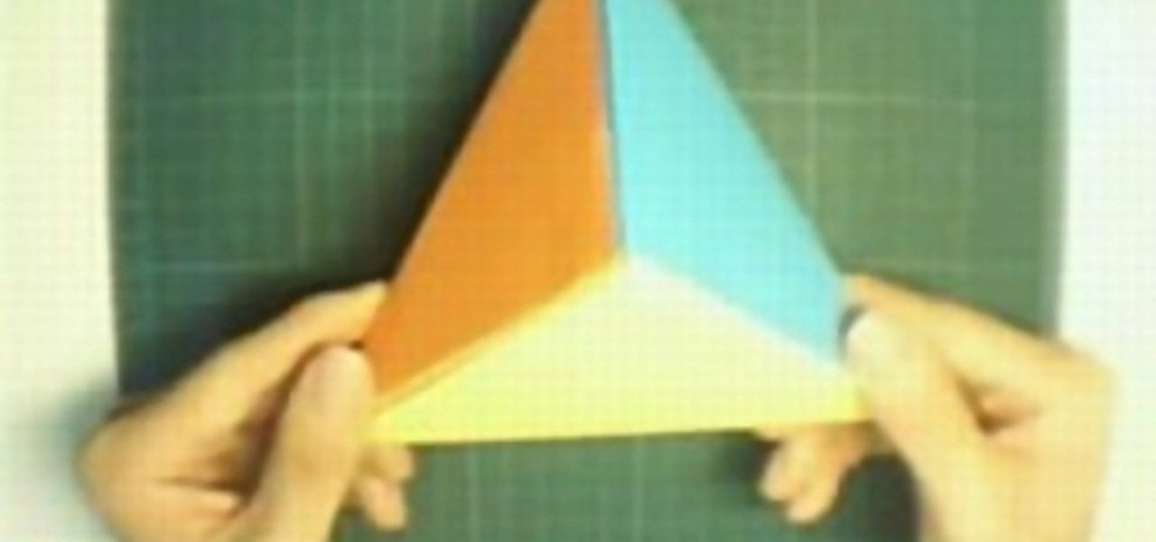 How To Origami A Diamond Pyramid WonderHowTo