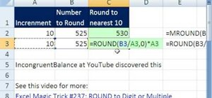 Round to an increment without MROUND in MS Excel
