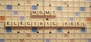 "MGMT's ""Electric Feel"" Music Video: SCRABBLE-ized"