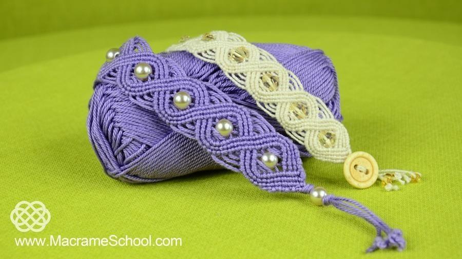 DIY Macramé Eternal Wave Bracelets