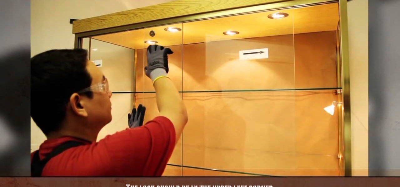 How To Install A Sliding Glass Cabinet Door « Construction U0026 Repair ::  WonderHowTo