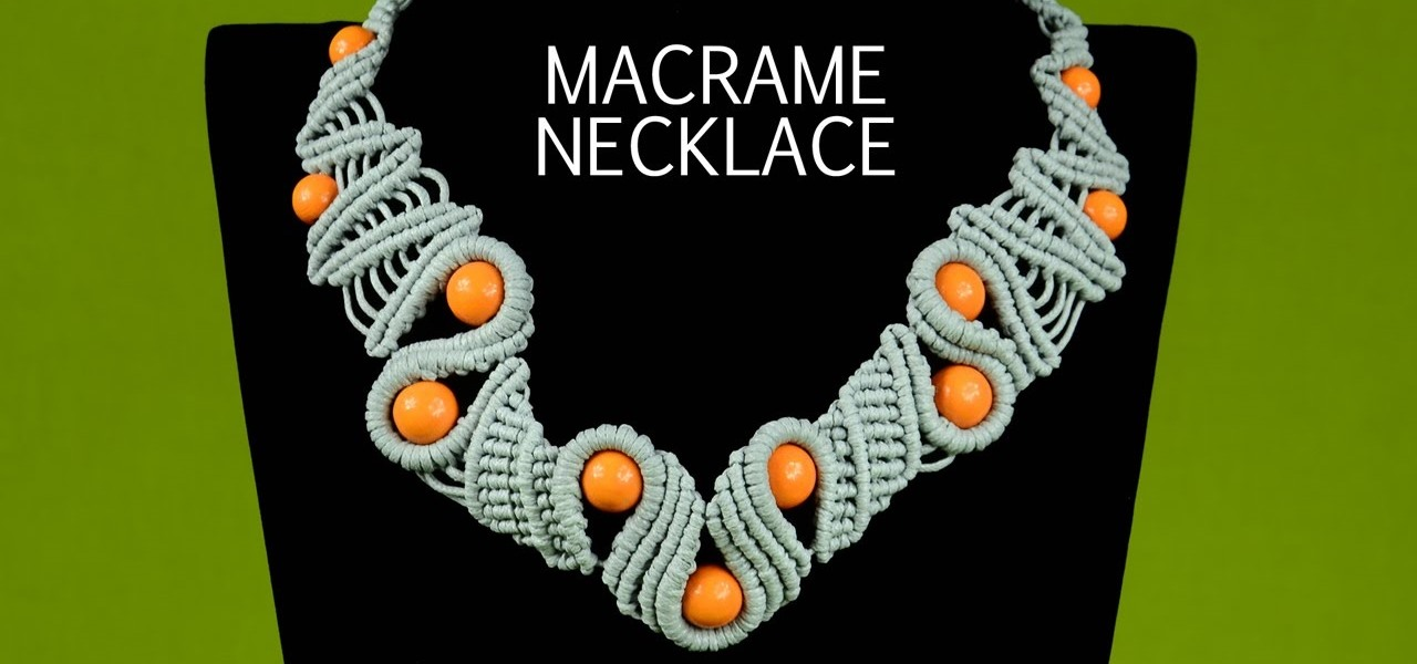 Snaky Macrame Necklace Tutorial