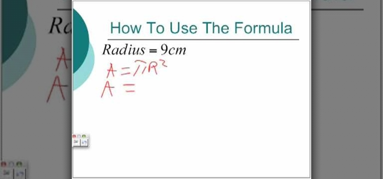 How To Calculate The Area Circumference Of A Circle Math
