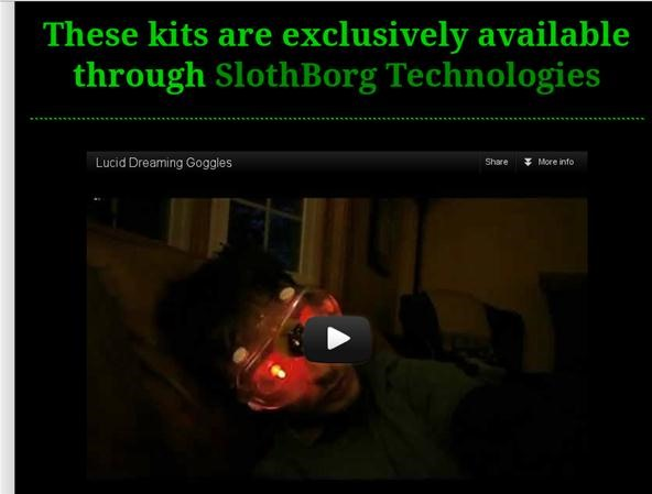 Slothborg Selling Lucid Dream Goggle Kits!