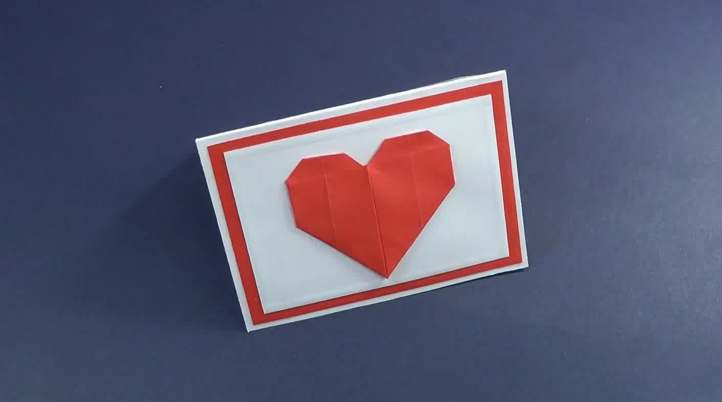 How to Make a Mini Valentine's Day Card with Origami Heart