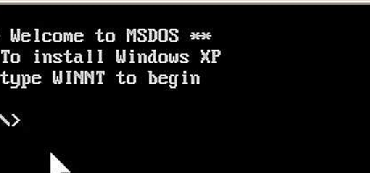 How to Install Windows XP from a DOS bootable flash drive
