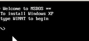 Install Windows XP from a DOS bootable flash drive