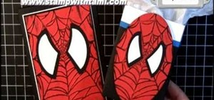 Craft a Spiderman box favor and card