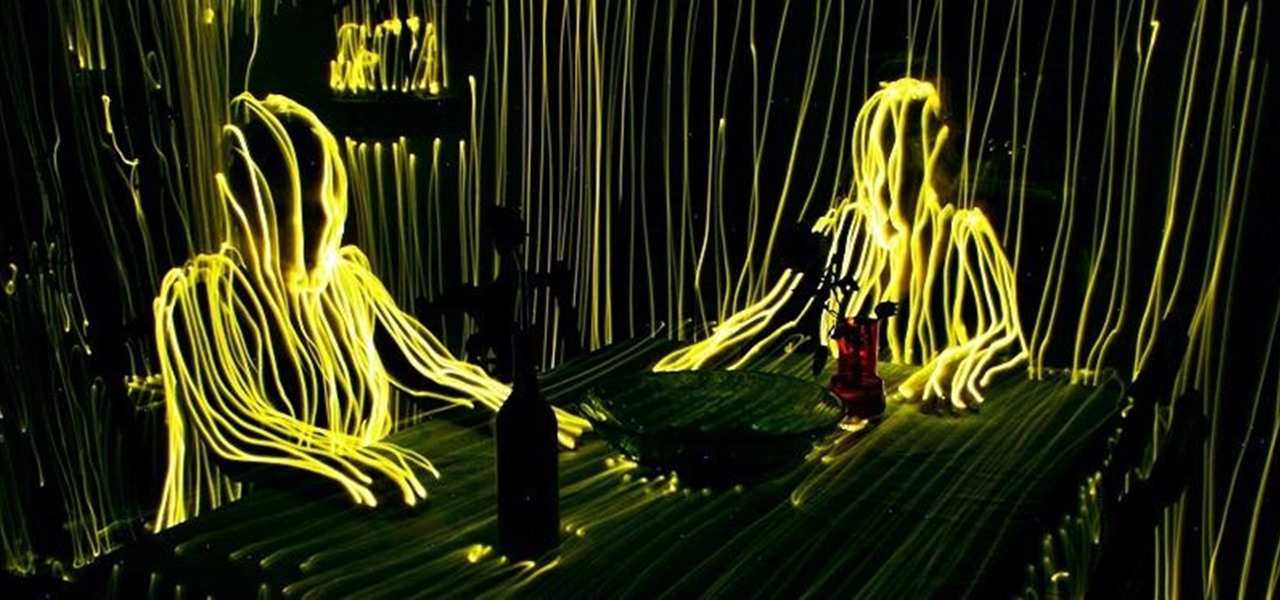 Artist Uses Just One LED to Trace Entire Rooms with Light Waves