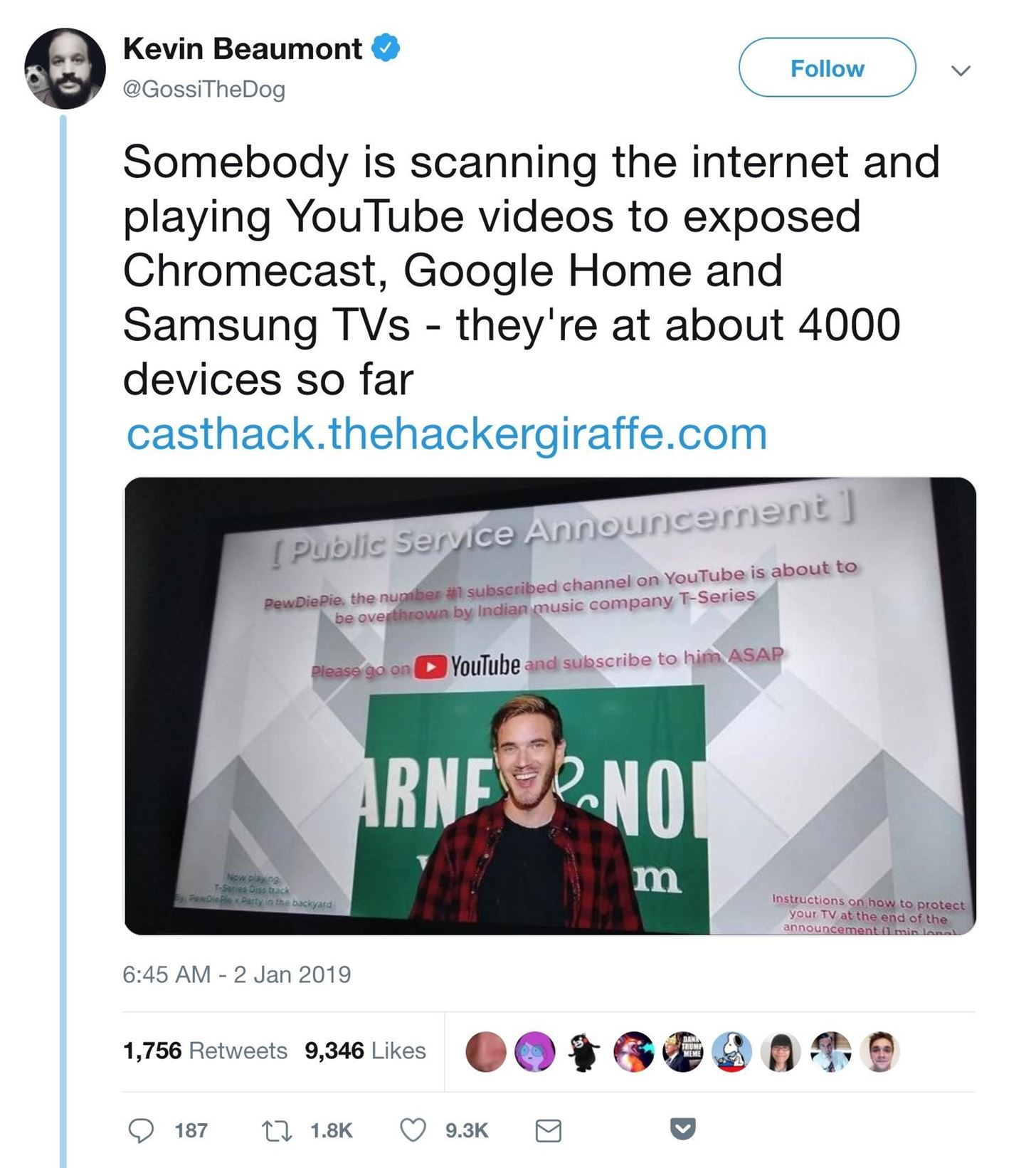Hacking a YouTube Botnet Using Chromecasts
