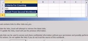 Avoid errors with the COUNTIF function when using workbook reference in Excel