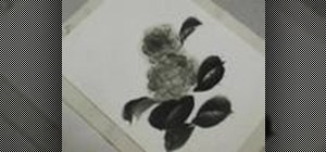 Paint a Hydrangea in Sumi-e ink