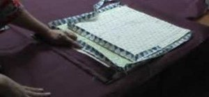 Quilt with different binding widths