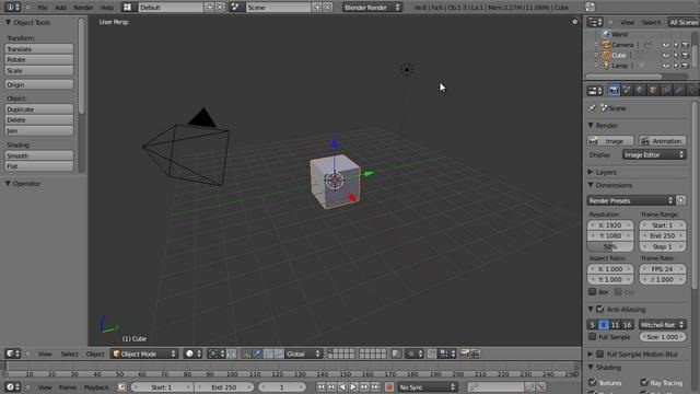 Create a 3D model of a coffee cup in Blender 2.5