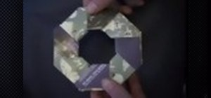 Do an amazing paper throwing star trick