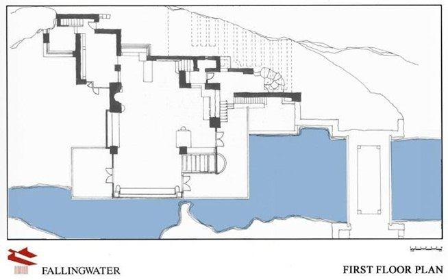 The gallery for --> Fallingwater Floor Plan