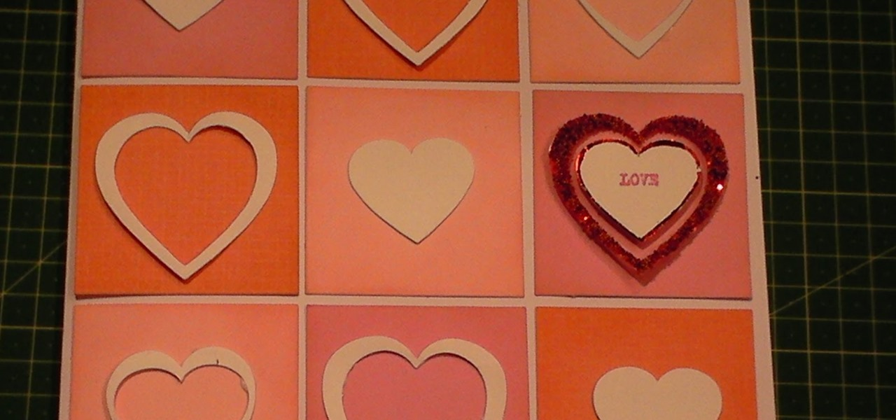 Make a Modern Valentines Day Heart Diecut Card