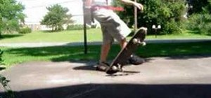 Do a No-Comply Impossible on a skateboard