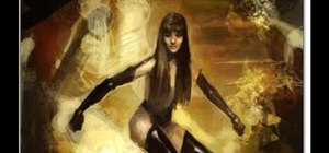 Draw the Watchmen character SILK SPECTRE