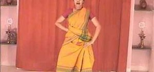 "Perform ""Tatta Adavu"" in Indian Bharatanatyam dance"