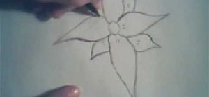 Draw a simple flower
