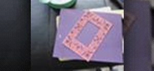 Make a paper piercing using a stencil