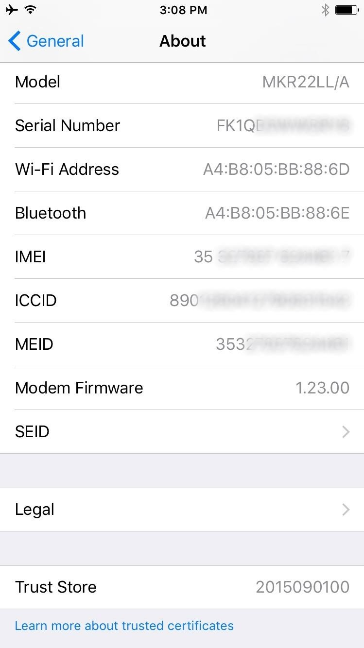 how to find my imsi on iphone