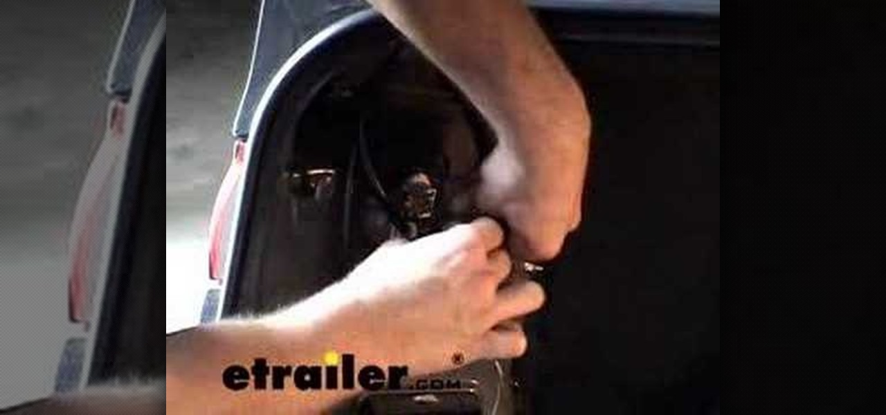 How To Install A Trailer Wiring Harness On A Toyota Camry Car Mods Wonderhowto