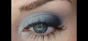 Get a wearable blue makeup look for your lids using MAC