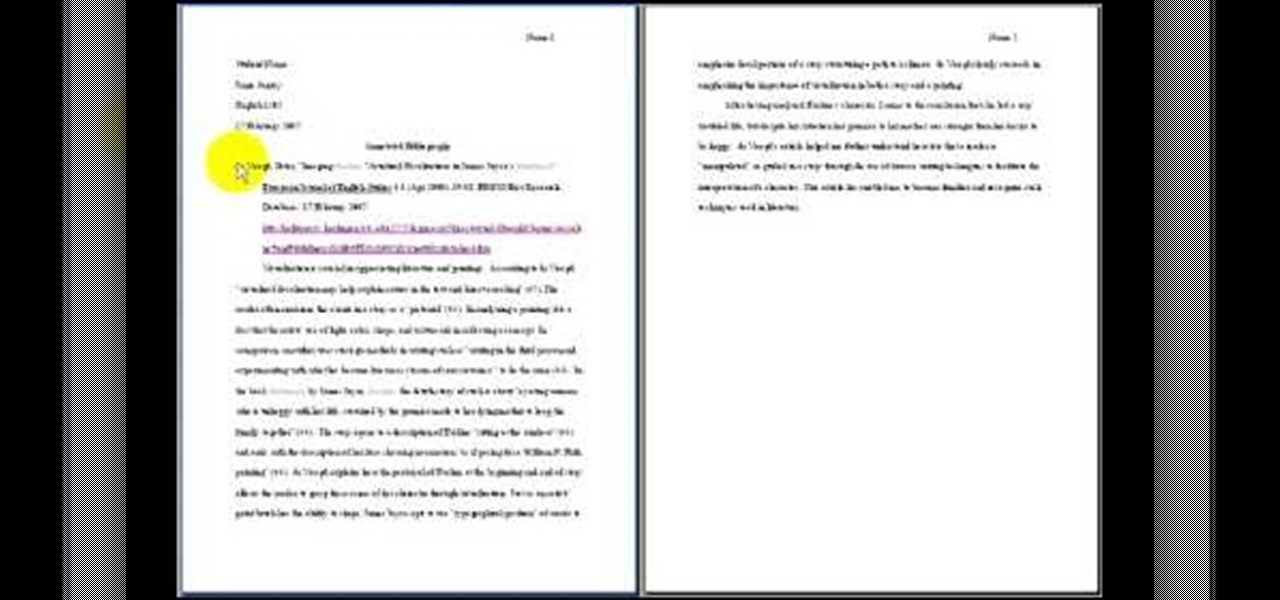 where does the annotated bibliography go in a research paper