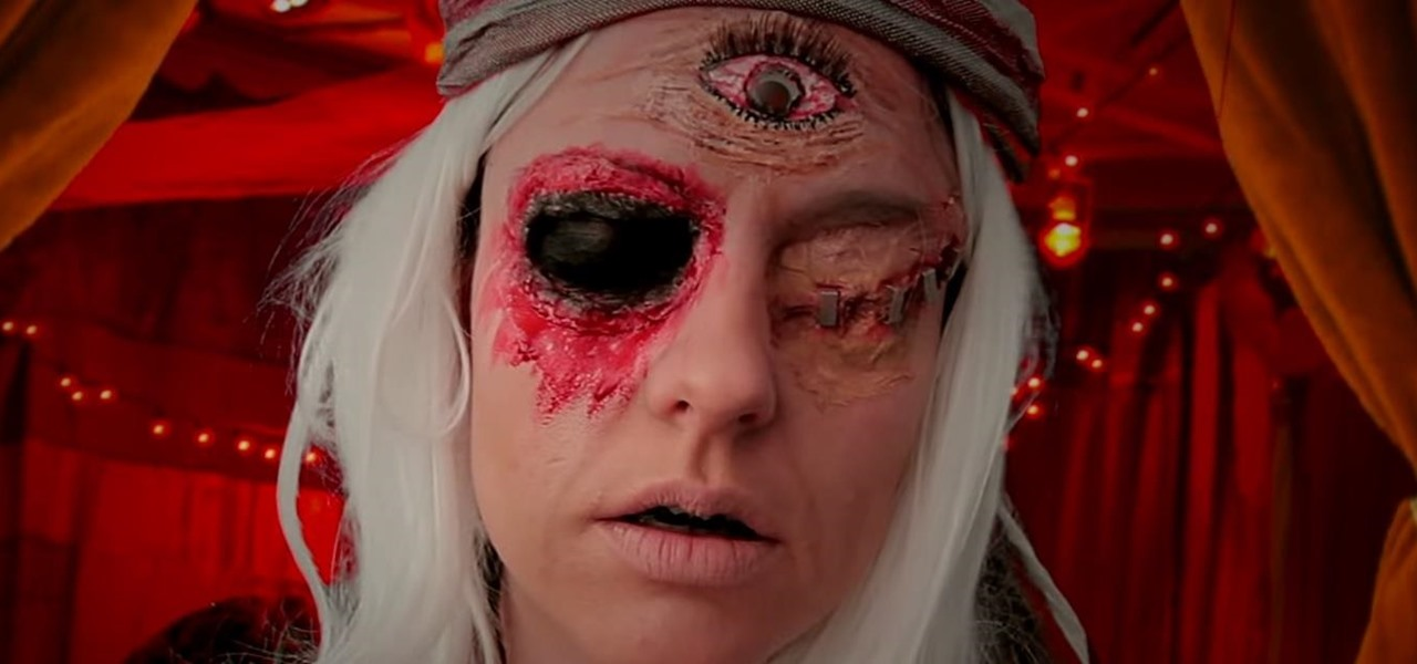 DIY Blind Fortune Teller Makeup FX for Halloween