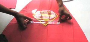 Create super hero cape party favors