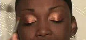 Create a metallic neutrals look for dark skin