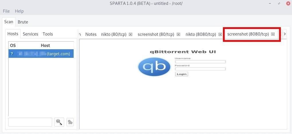How to Discover & Attack Services on Web Apps or Networks with Sparta