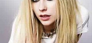 Apply  Avril Lavigne inspired eye shadow