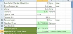 Build confidence intervals & test hypotheses in Excel