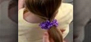 Style a flip ponytail