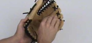 Properly break in a baseball glove