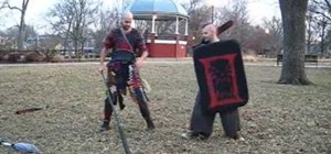 Use a spear to fight against shieldmen in boffer larps