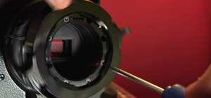 Install the Nikon mount on a RED ONE camera