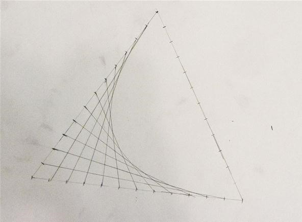 How To Make Straight Line Art : How to create parabolic curves using straight lines « math