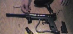 Disassemble a Tippmann 98 Custom paintball gun