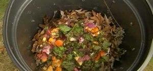 Make a trash can compost bin