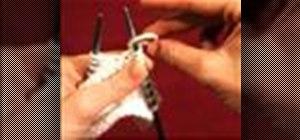 Make one away (increase) in English knitting method