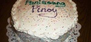 Make a vanilla chiffon cake